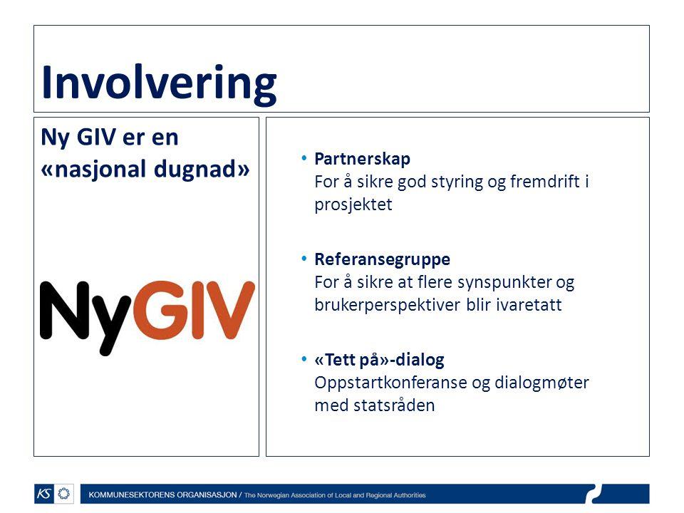 Involvering Ny GIV er en «nasjonal dugnad»