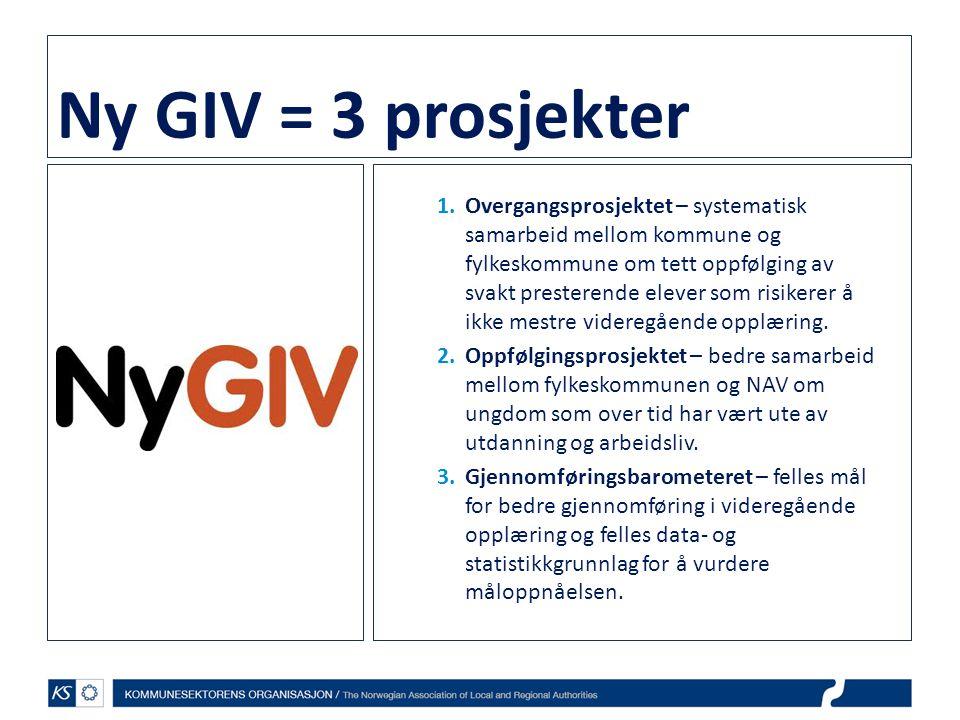 Ny GIV = 3 prosjekter