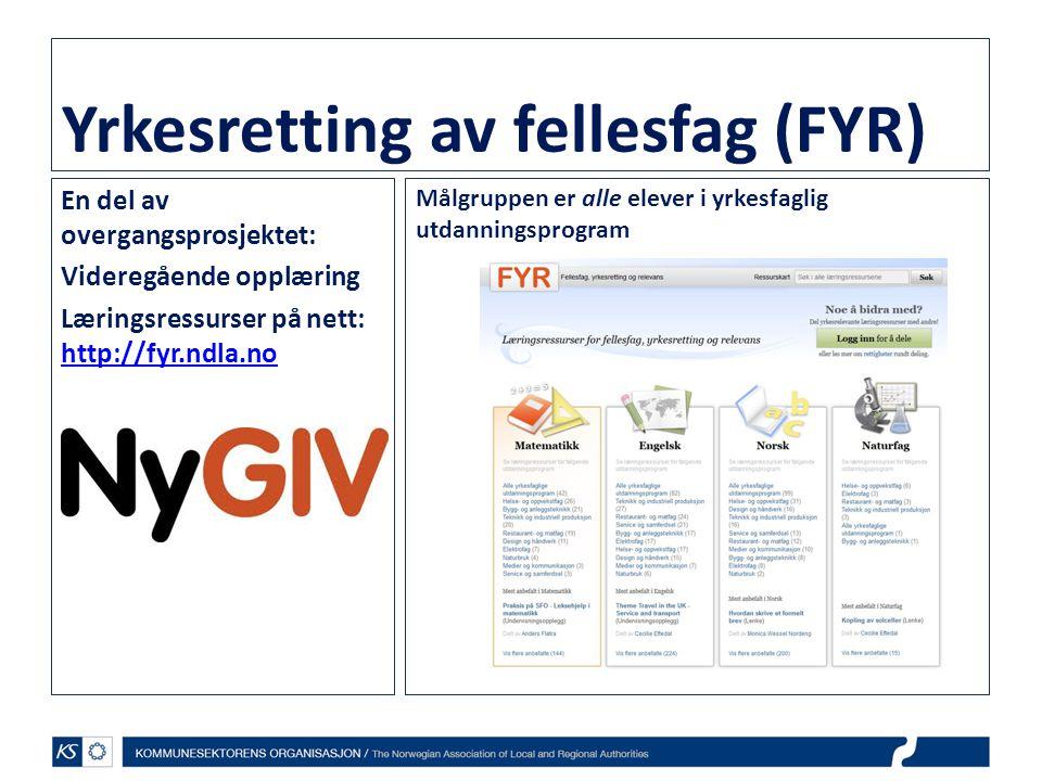Yrkesretting av fellesfag (FYR)