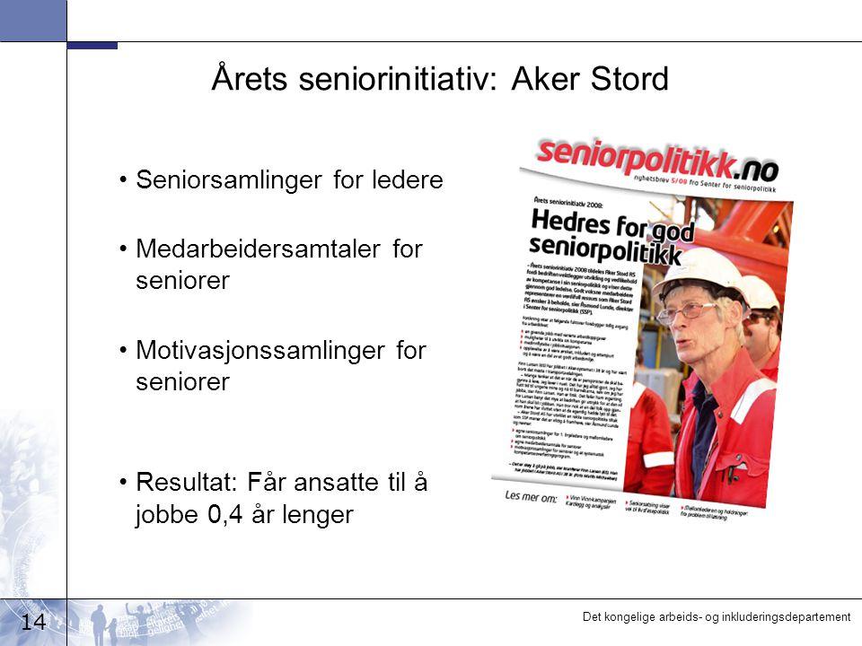 Årets seniorinitiativ: Aker Stord