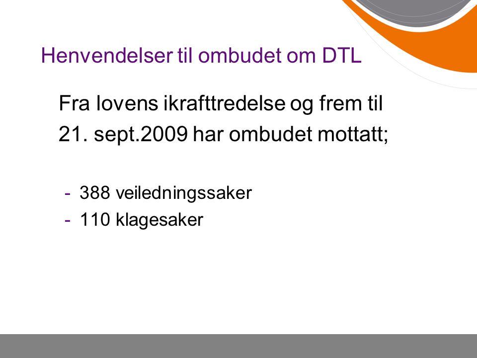 Henvendelser til ombudet om DTL
