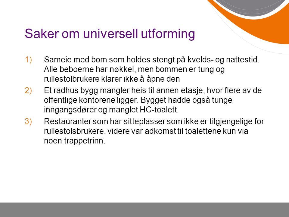 Saker om universell utforming