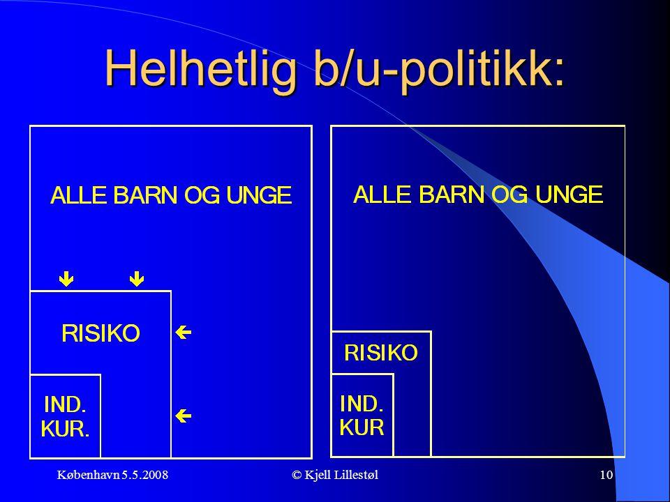 Helhetlig b/u-politikk: