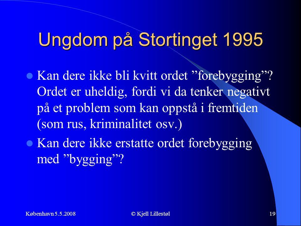 Ungdom på Stortinget 1995