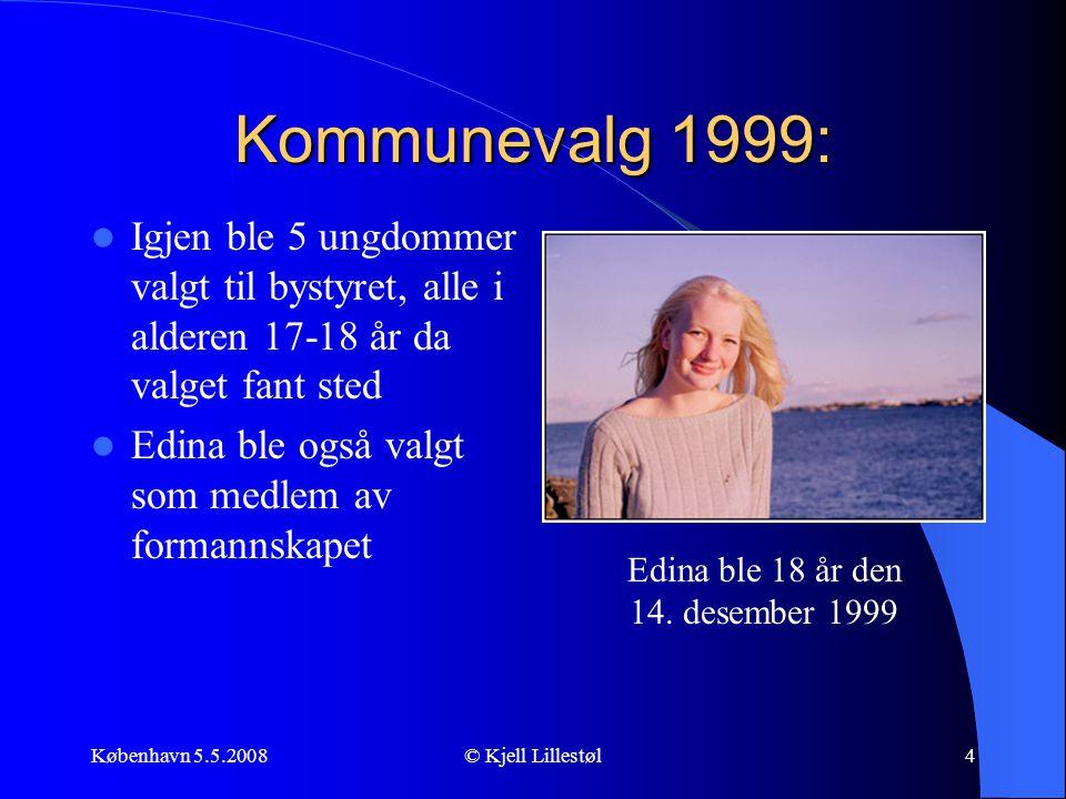 Kommunevalg 1999: Igjen ble 5 ungdommer valgt til bystyret, alle i alderen 17-18 år da valget fant sted.