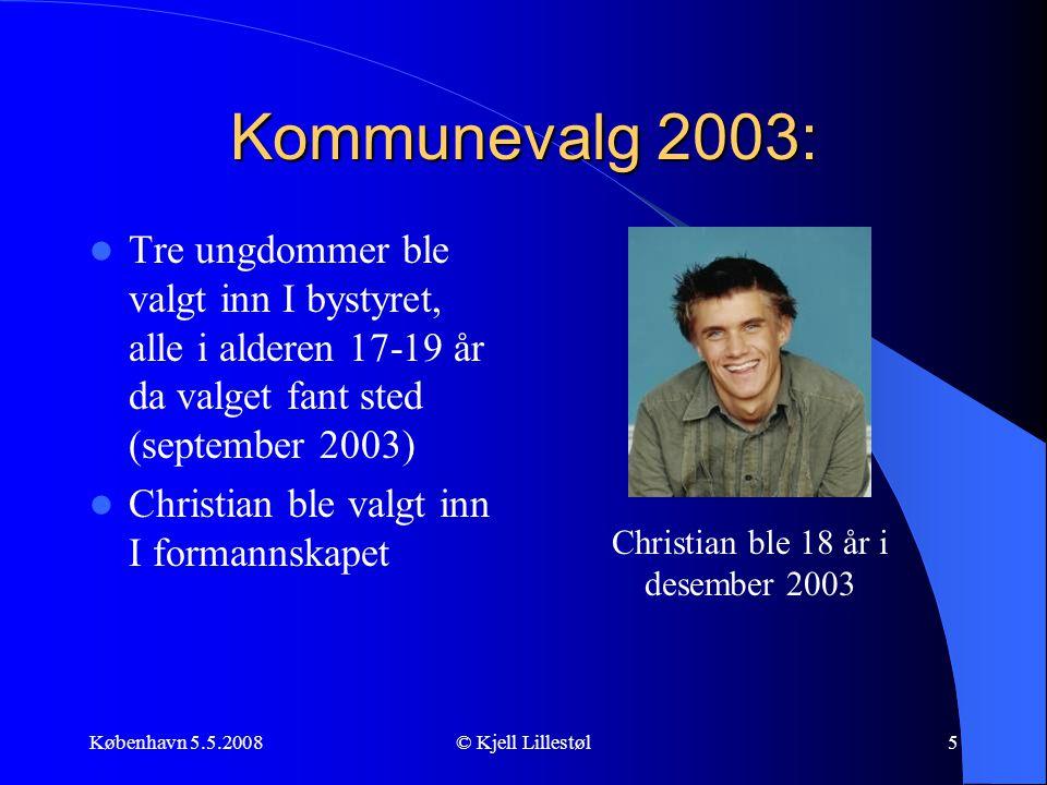 Christian ble 18 år i desember 2003
