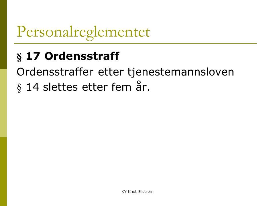 Personalreglementet § 17 Ordensstraff