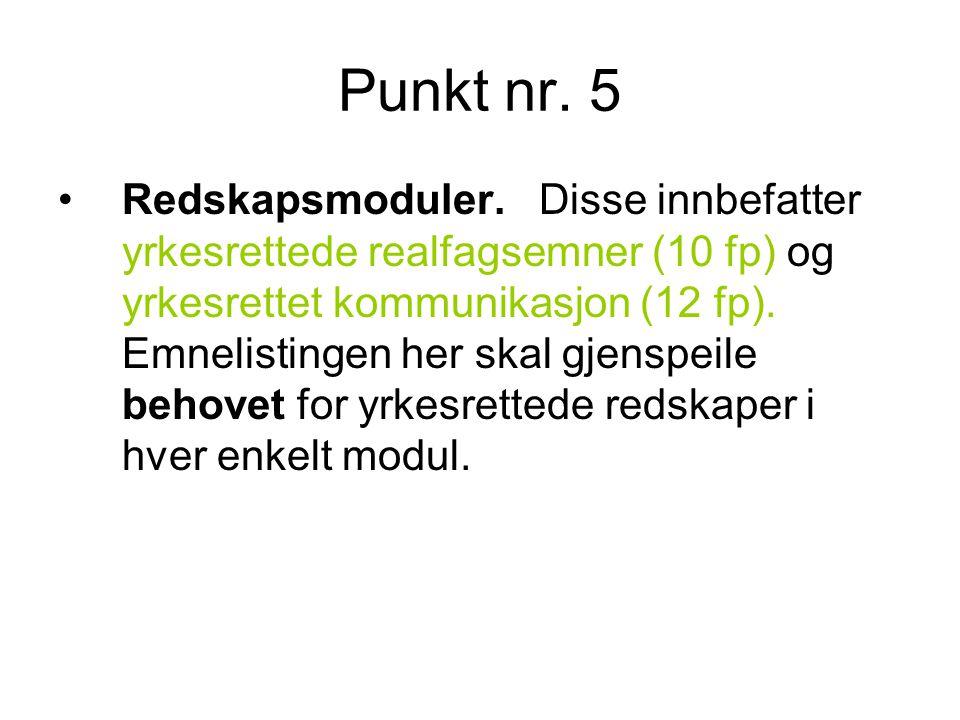 Punkt nr. 5