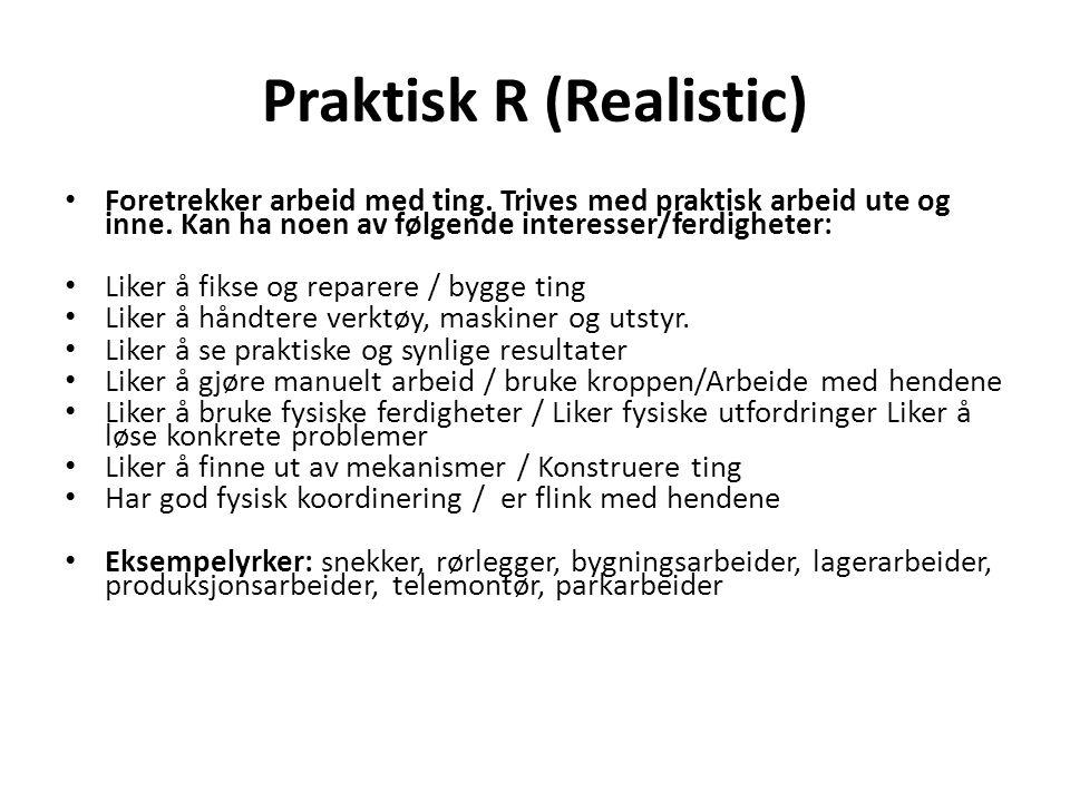 Praktisk R (Realistic)