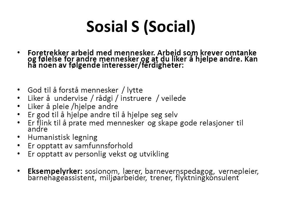 Sosial S (Social)