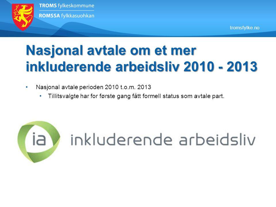 Nasjonal avtale om et mer inkluderende arbeidsliv 2010 - 2013