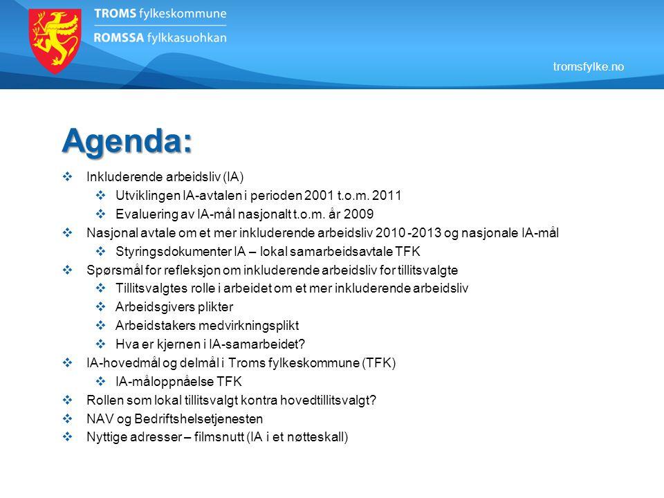 Agenda: Inkluderende arbeidsliv (IA)