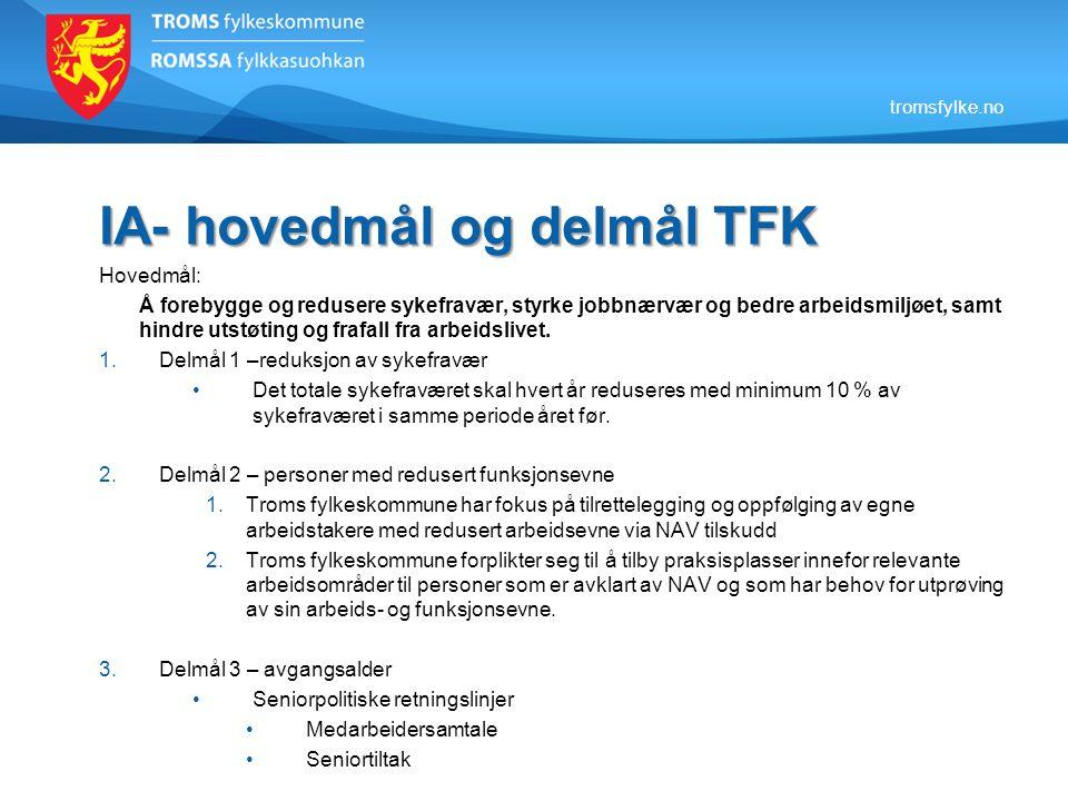 IA- hovedmål og delmål TFK