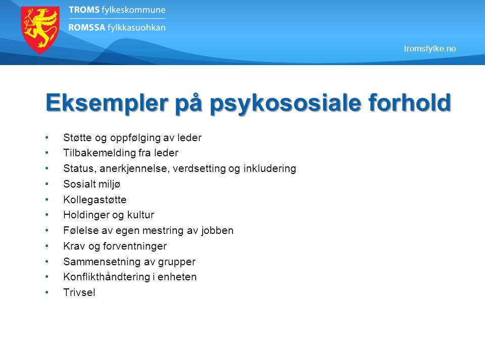 Eksempler på psykososiale forhold