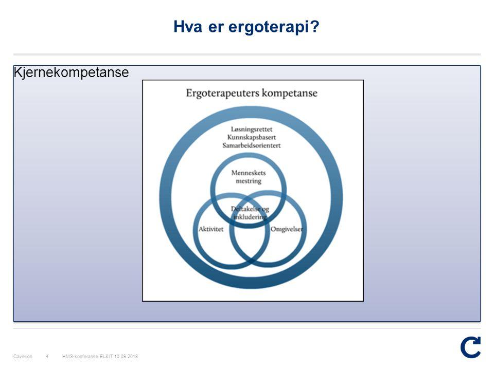 Hva er ergoterapi Kjernekompetanse HMS-konferanse EL&IT 10.09.2013
