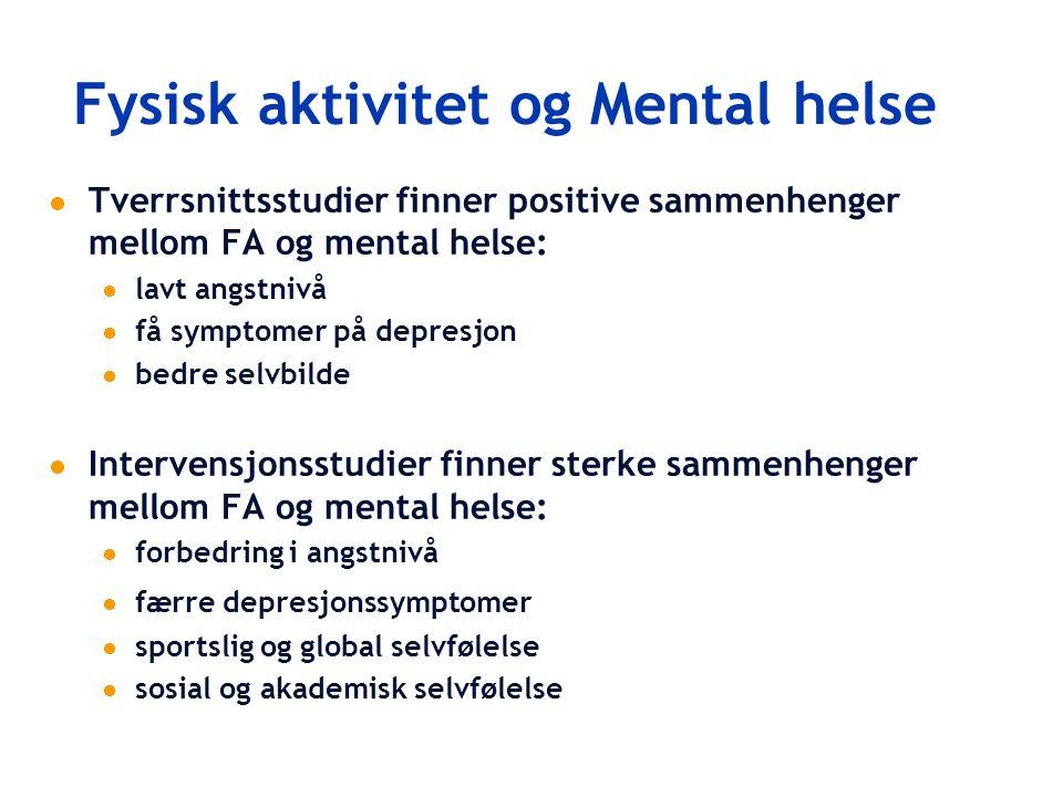 Fysisk aktivitet og Mental helse
