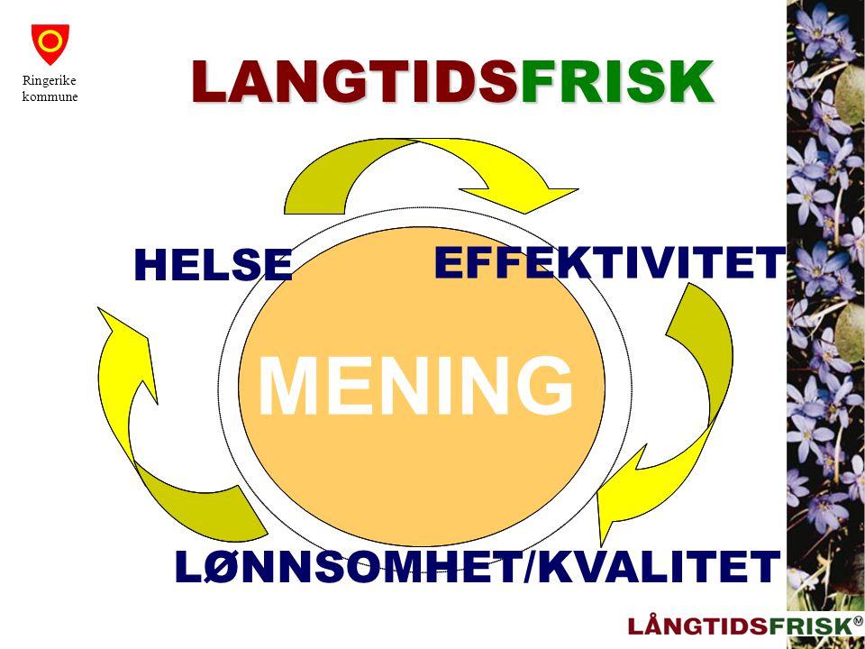 MENING MENING MENING LANGTIDSFRISK HELSE EFFEKTIVITET
