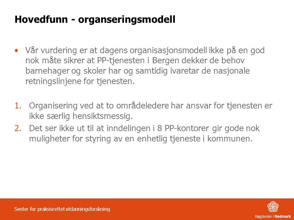 Hovedfunn - organseringsmodell