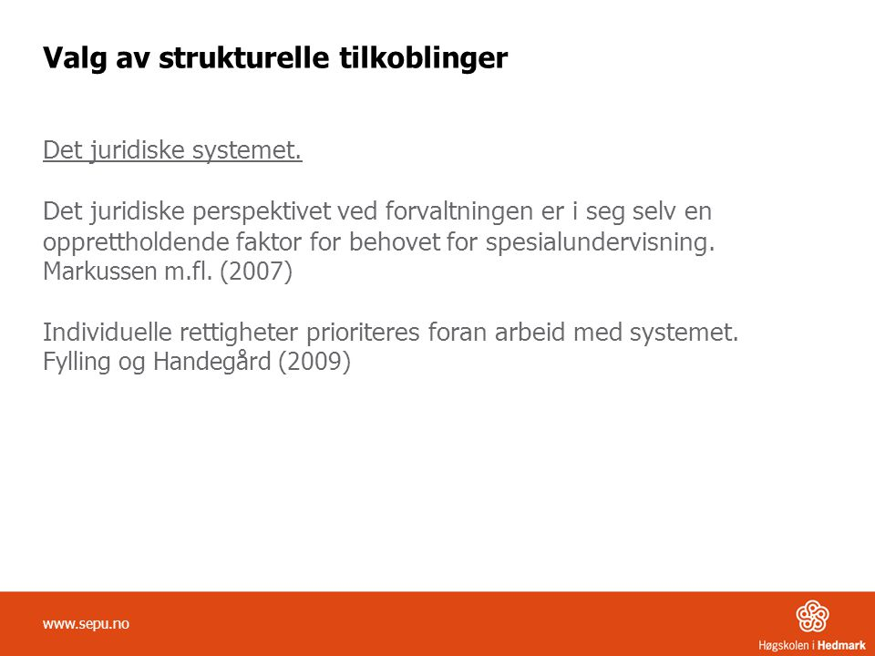 Valg av strukturelle tilkoblinger