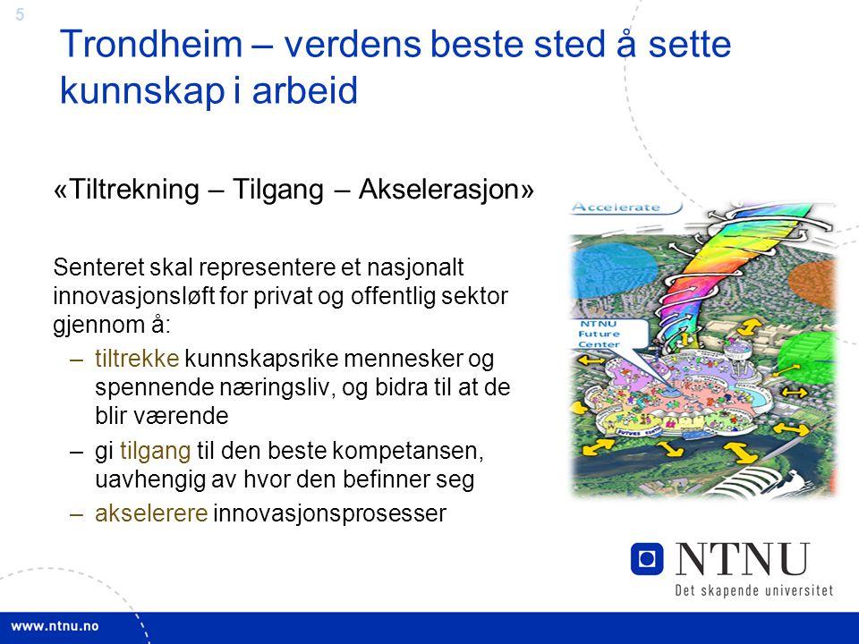 Trondheim – verdens beste sted å sette kunnskap i arbeid