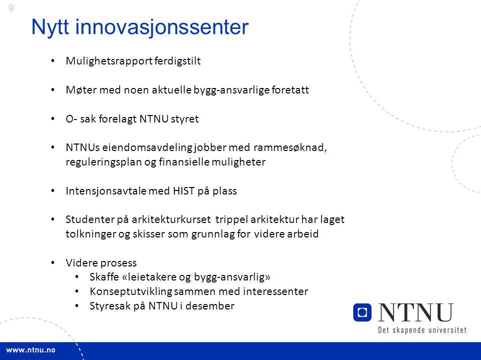 Nytt innovasjonssenter