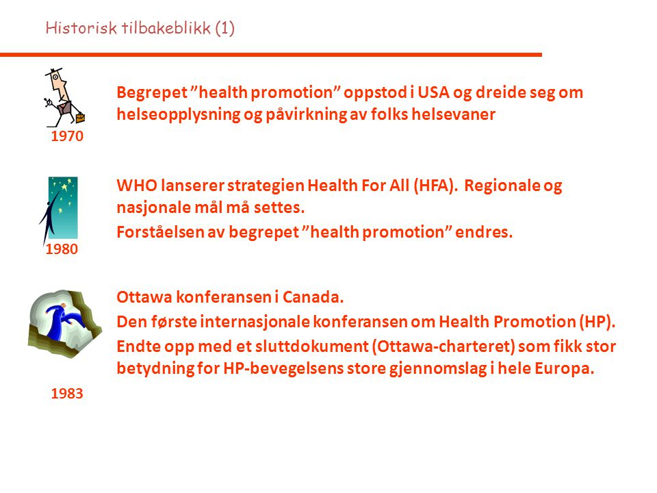 Forståelsen av begrepet health promotion endres.