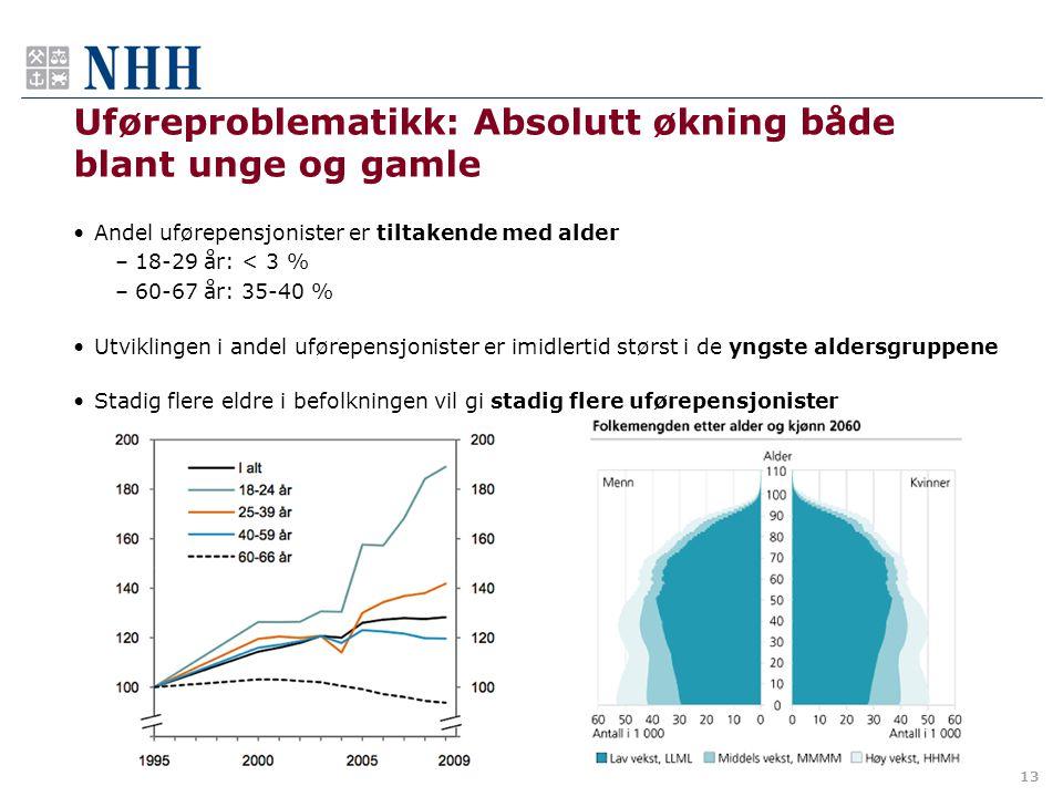 Uføreproblematikk: Absolutt økning både blant unge og gamle