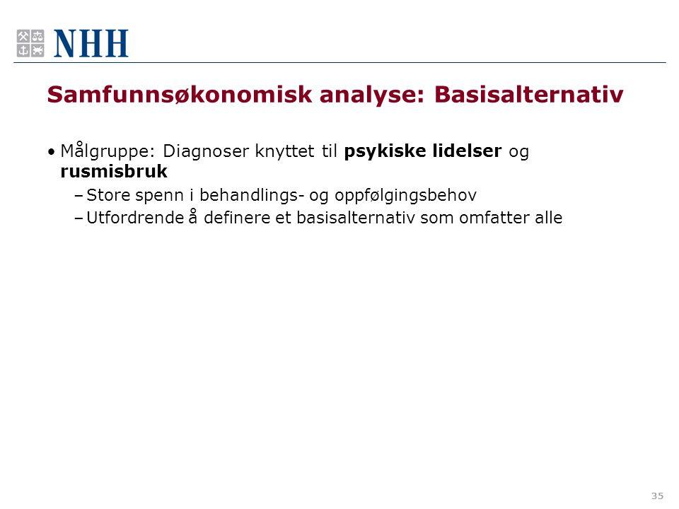 Samfunnsøkonomisk analyse: Basisalternativ