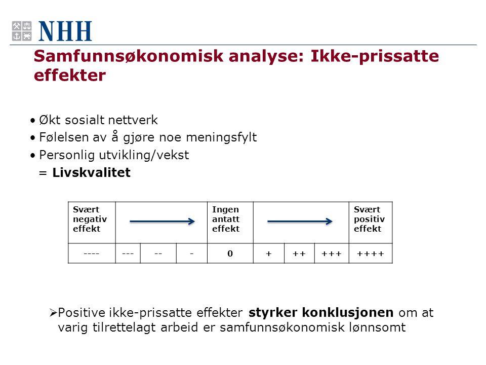 Samfunnsøkonomisk analyse: Ikke-prissatte effekter