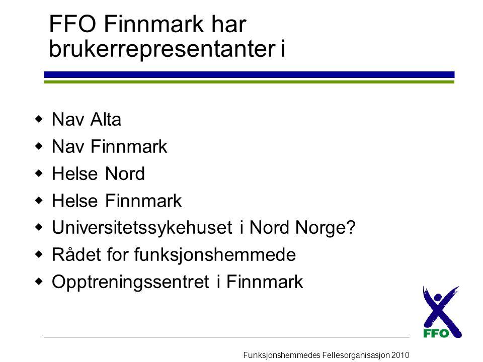 FFO Finnmark har brukerrepresentanter i