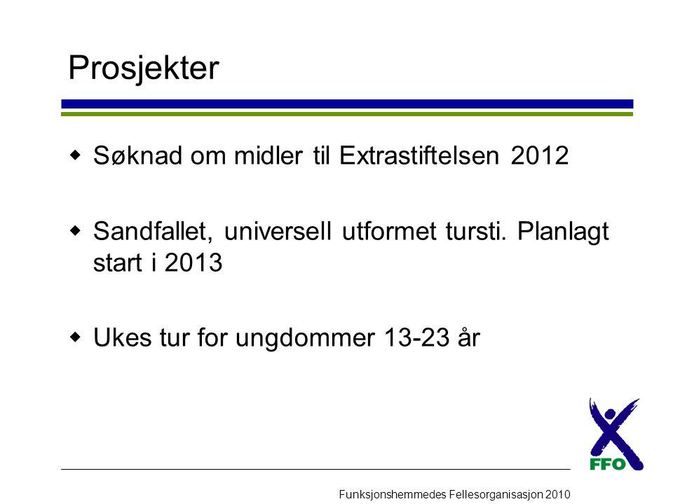 Prosjekter Søknad om midler til Extrastiftelsen 2012