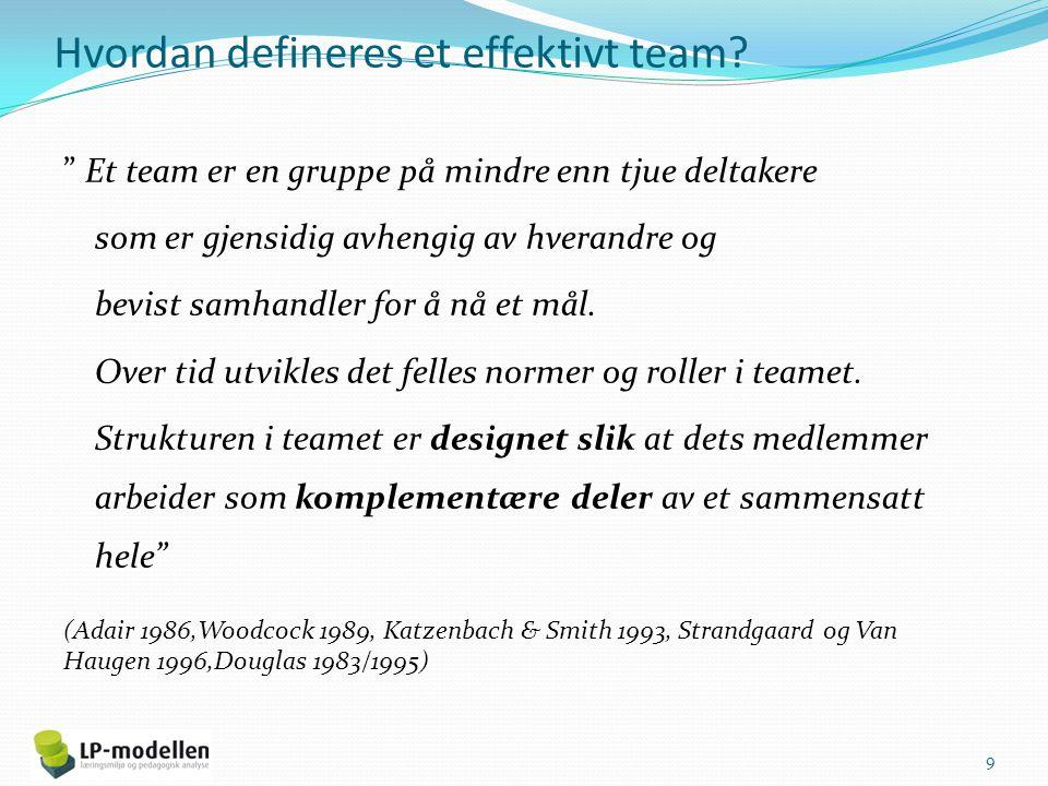 Hvordan defineres et effektivt team