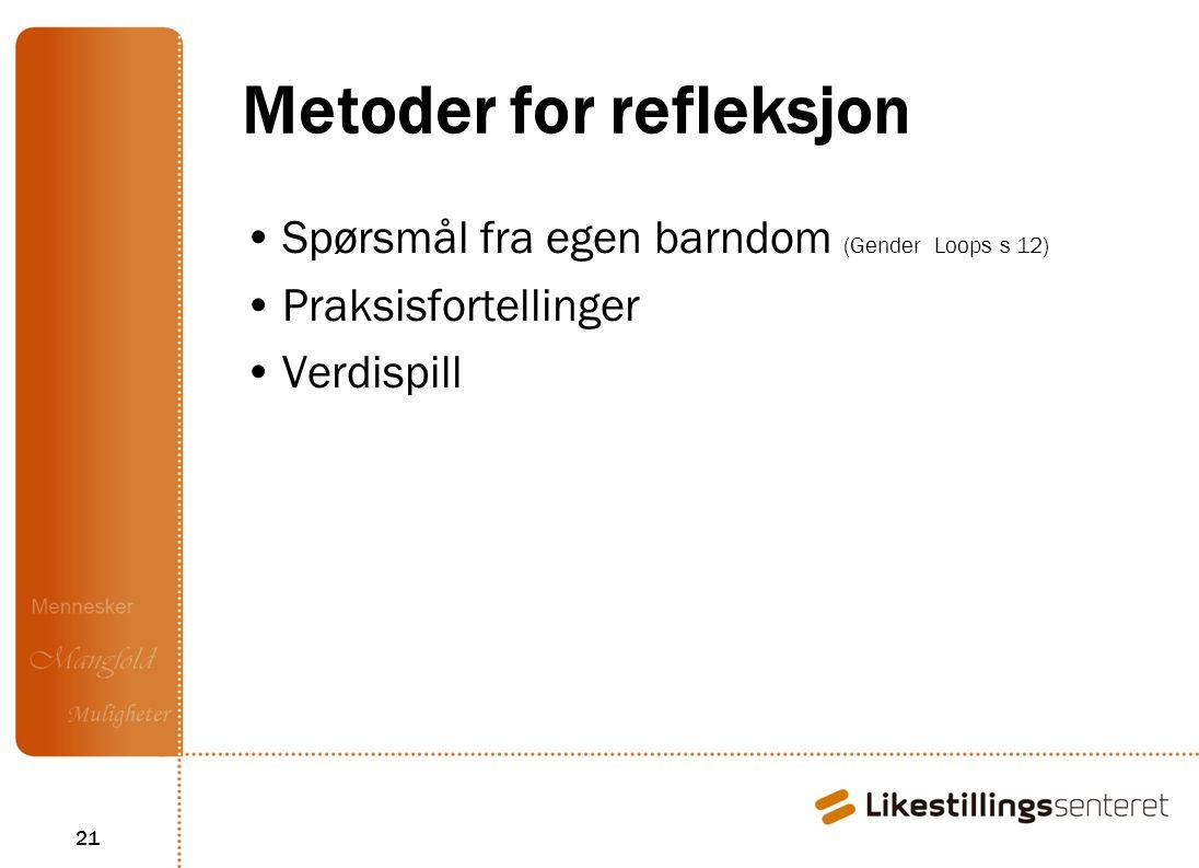 Metoder for refleksjon