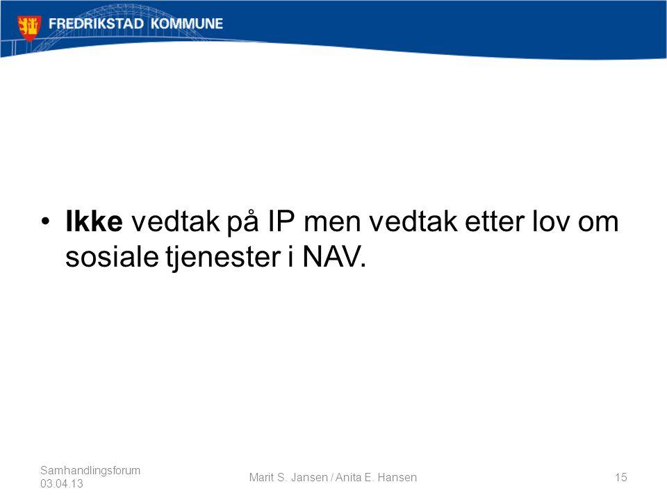 Marit S. Jansen / Anita E. Hansen