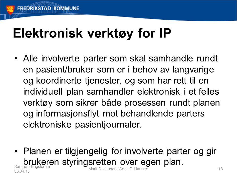 Elektronisk verktøy for IP