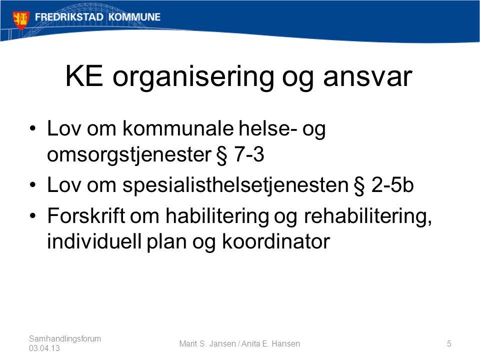 KE organisering og ansvar