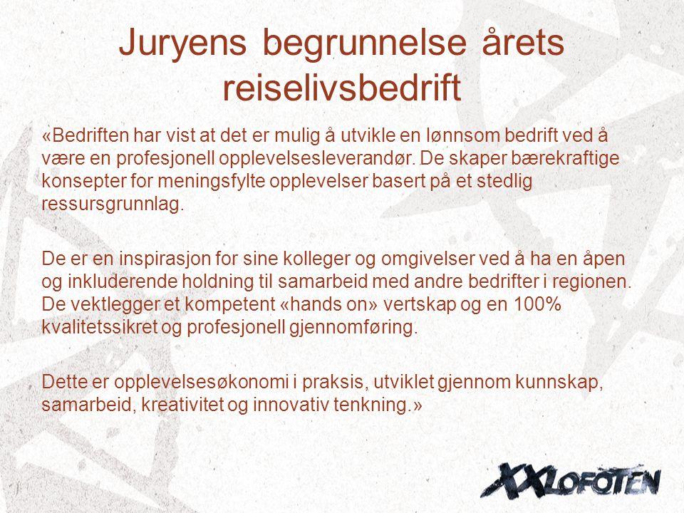 Juryens begrunnelse årets reiselivsbedrift