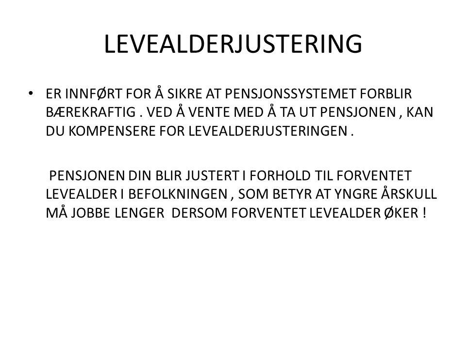 LEVEALDERJUSTERING