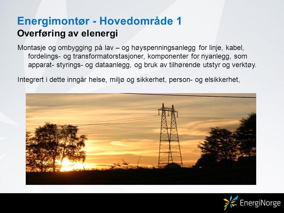 Energimontør - Hovedområde 1 Overføring av elenergi