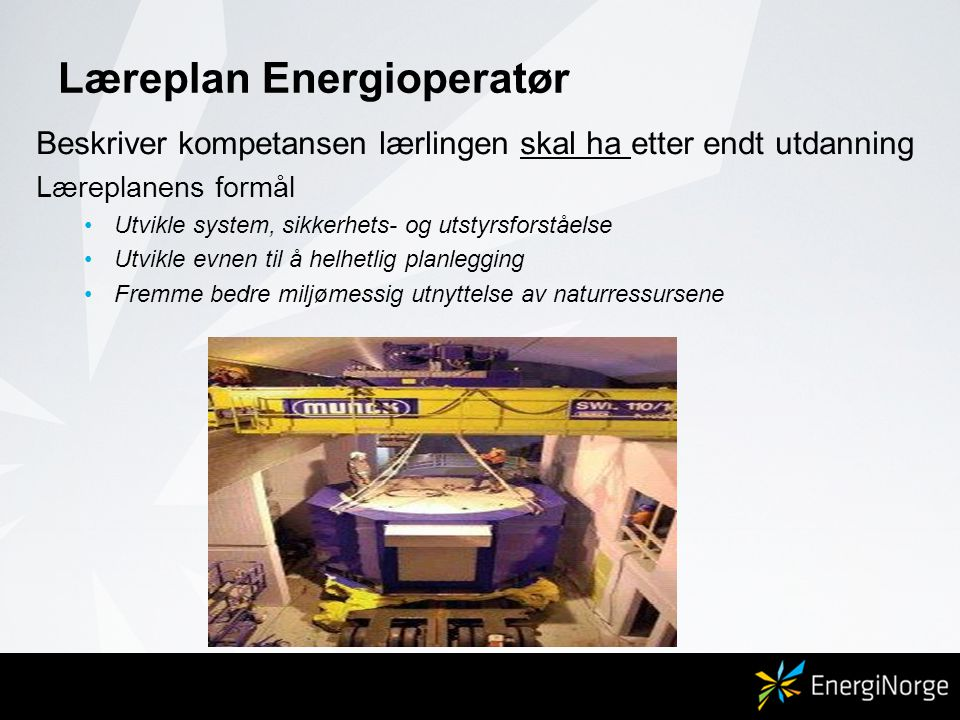 Læreplan Energioperatør