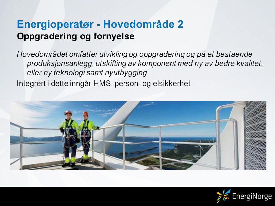 Energioperatør - Hovedområde 2 Oppgradering og fornyelse