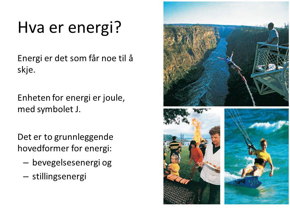 Hva er energi Energi er det som får noe til å skje.