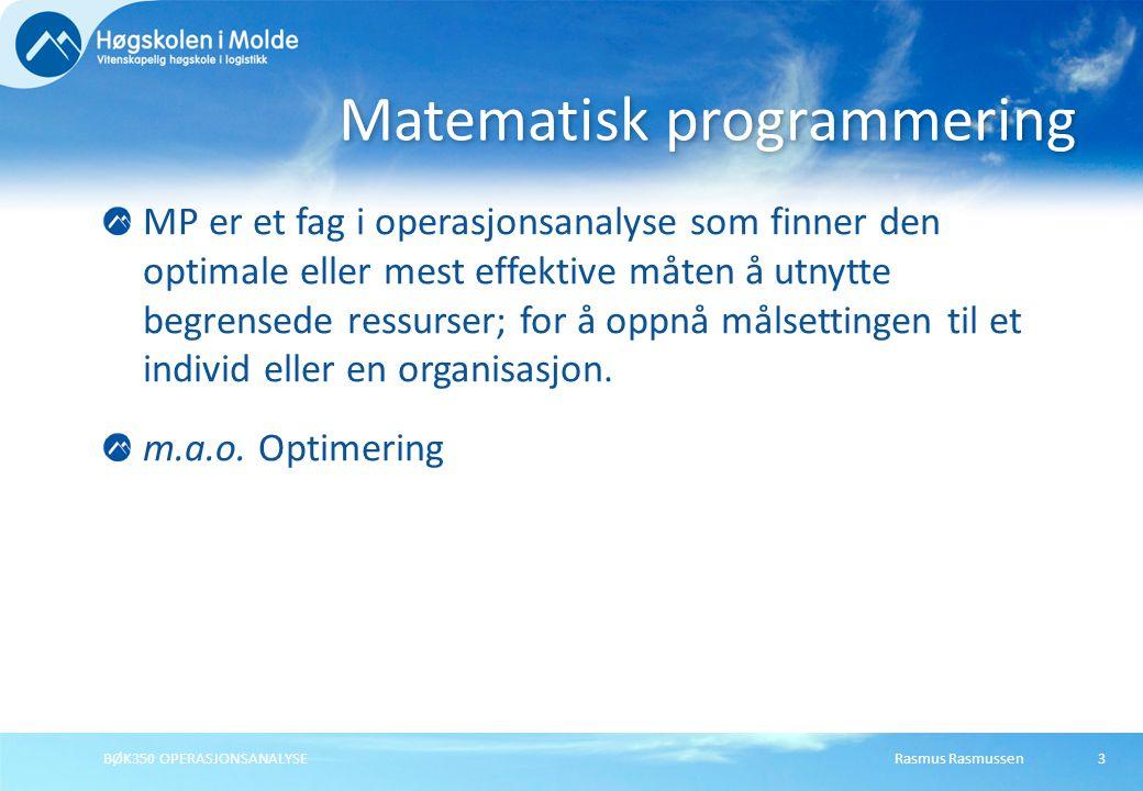 Matematisk programmering
