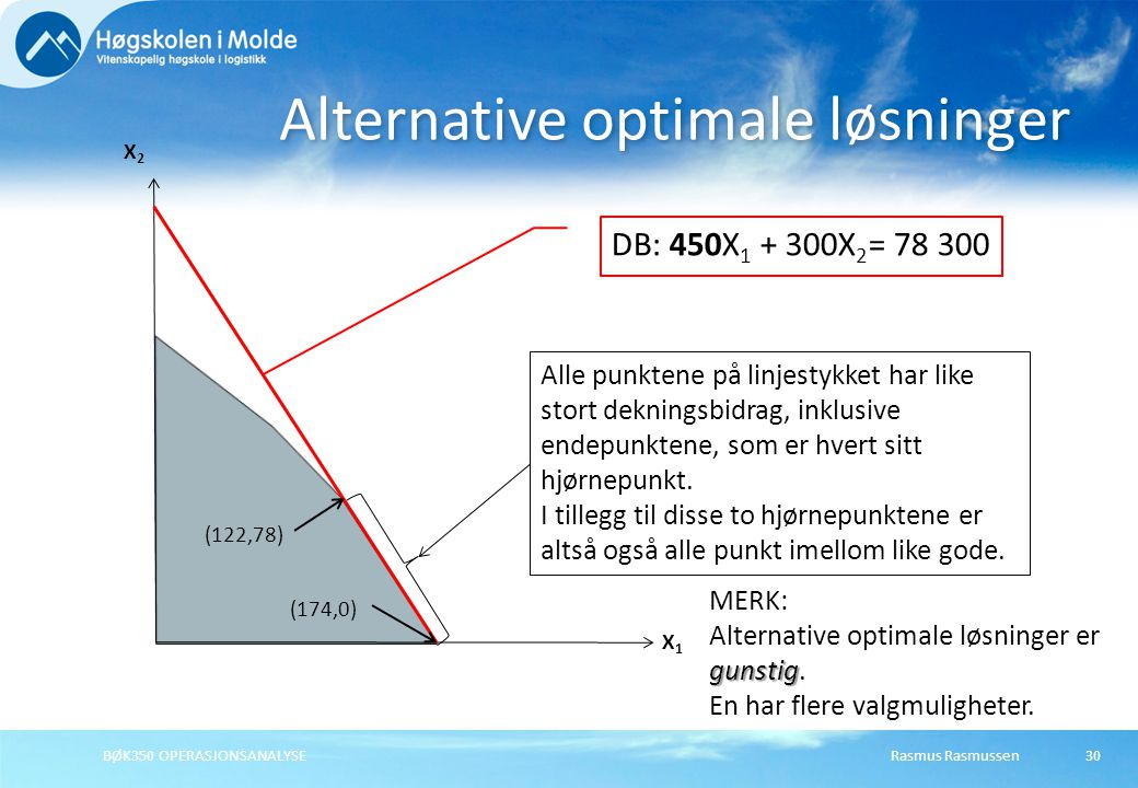 Alternative optimale løsninger