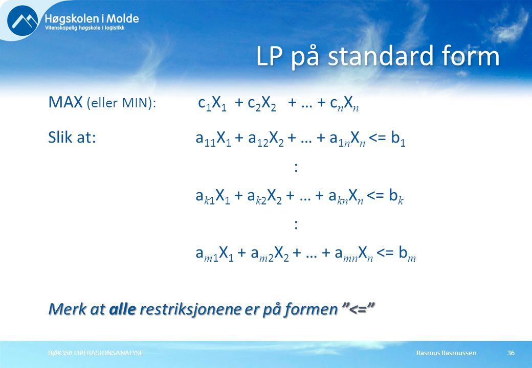LP på standard form