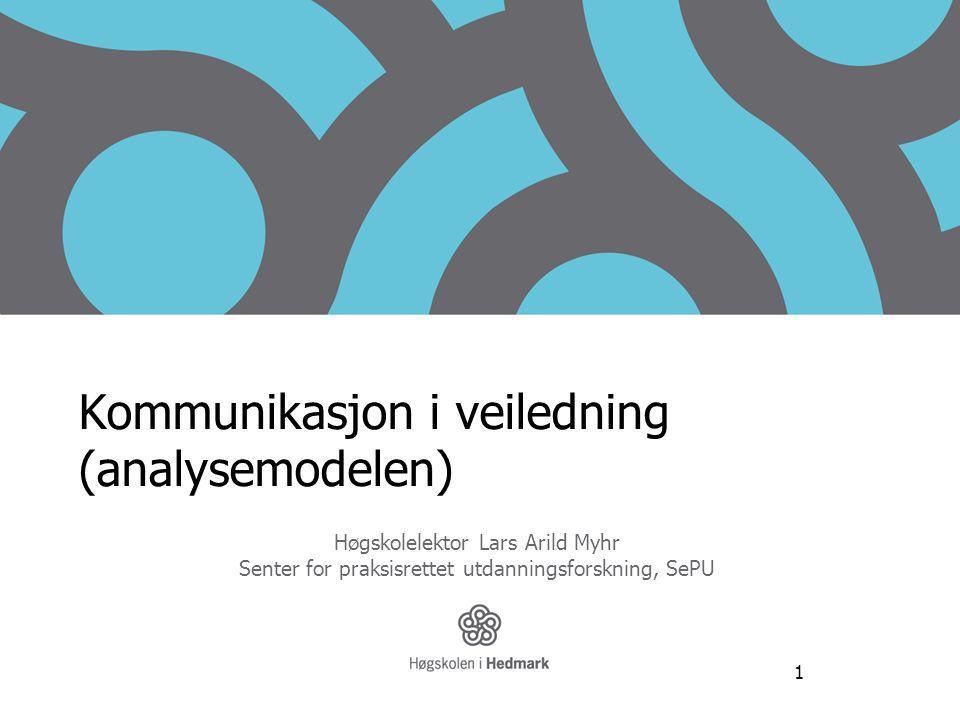 Kommunikasjon i veiledning (analysemodelen)