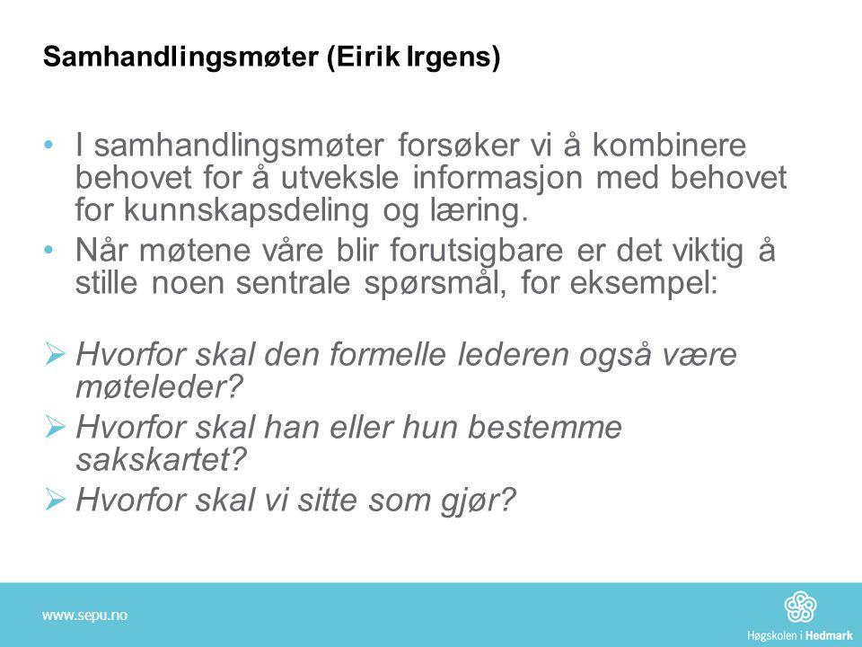 Samhandlingsmøter (Eirik Irgens)
