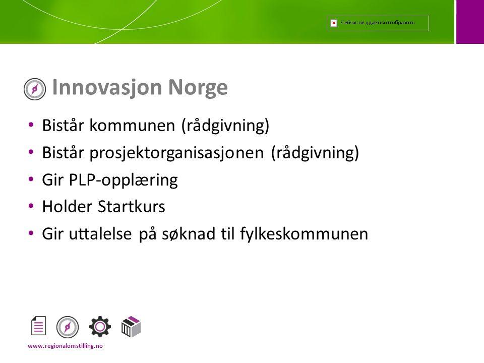 Innovasjon Norge Bistår kommunen (rådgivning)