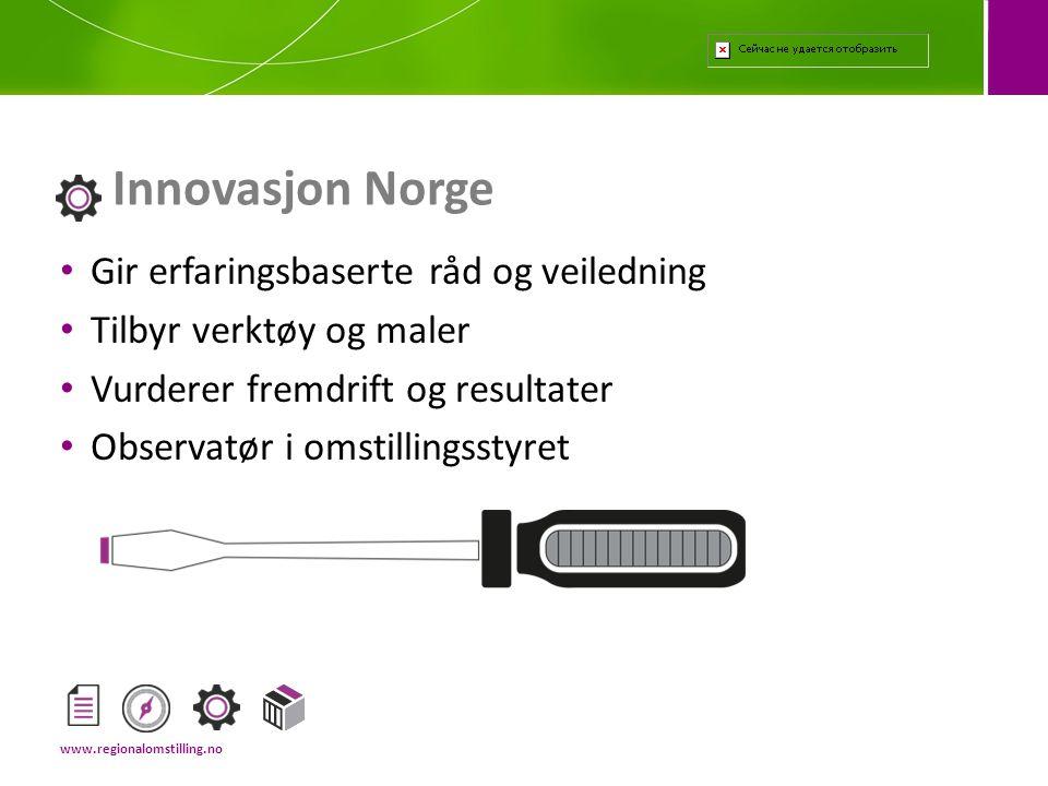 Innovasjon Norge Gir erfaringsbaserte råd og veiledning
