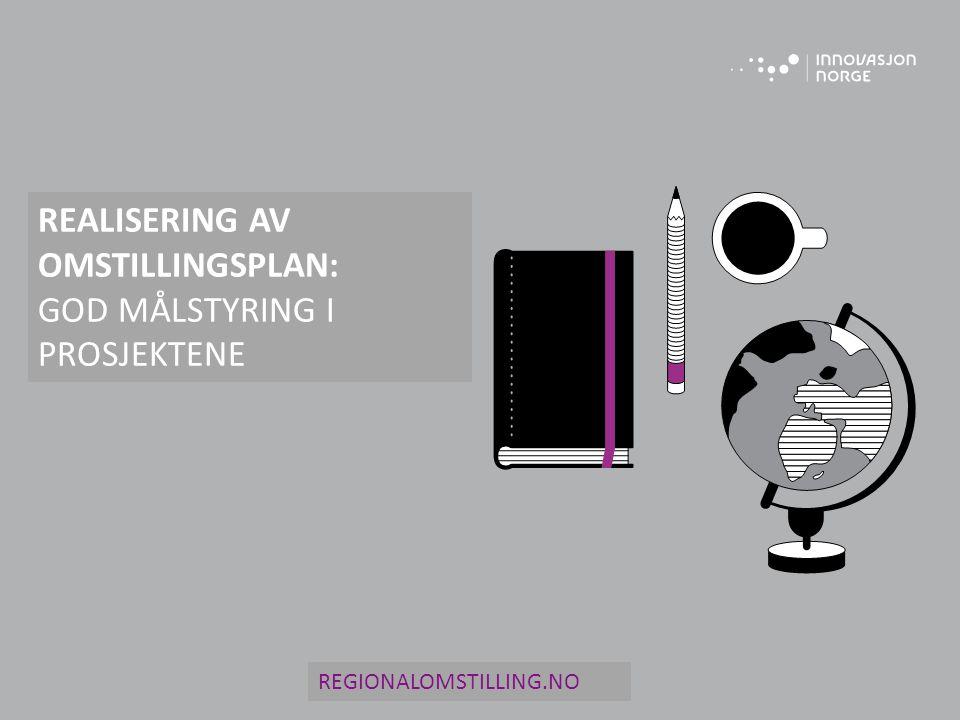 REALISERING AV OMSTILLINGSPLAN: GOD MÅLSTYRING I PROSJEKTENE
